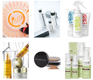 product shots - monoderma. dermalogica,clean start, Decleor,Environ, Priori
