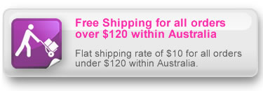 Free Shipping for all orders over $120 within Australia